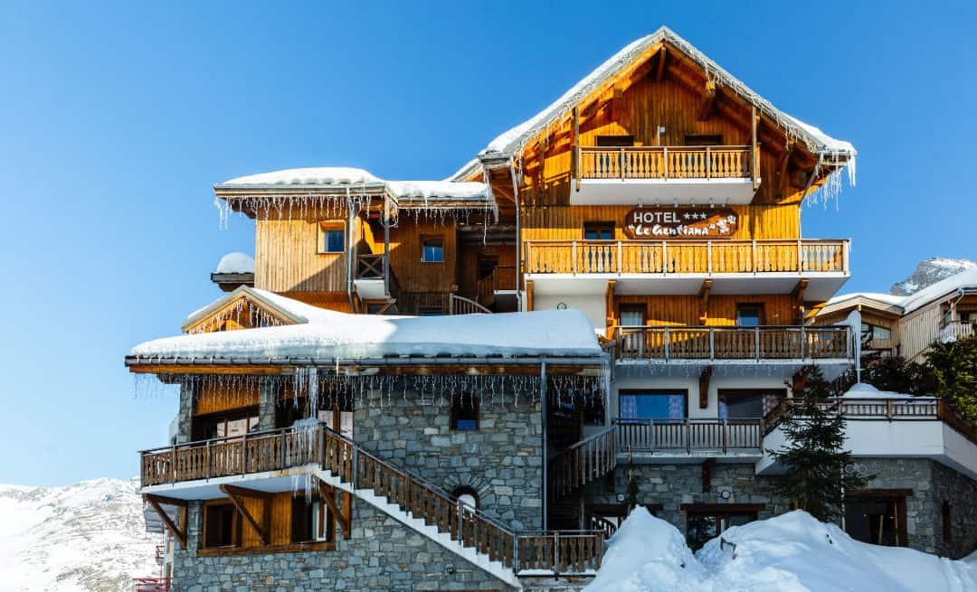 Un hotel traditionnel de montagne