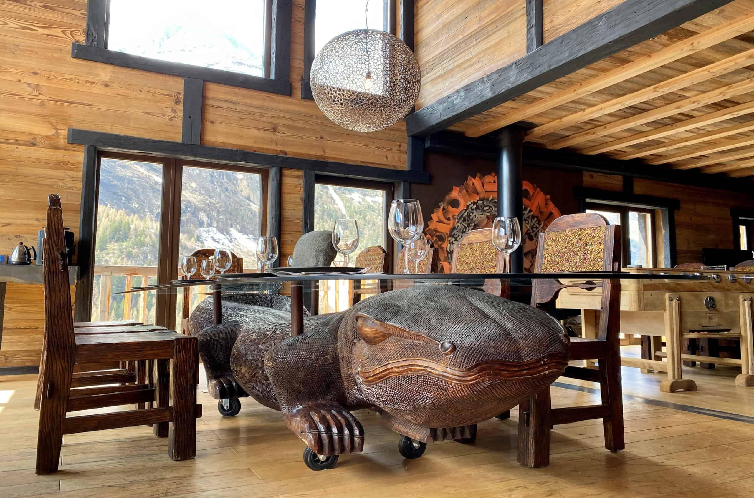 La table du chalet Ubud