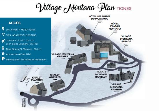 Carte du Village Montana