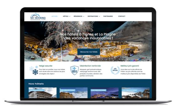Le site web Ski-booking.com